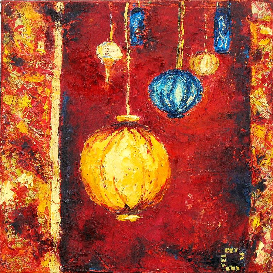 Peintures Lumières et tongs